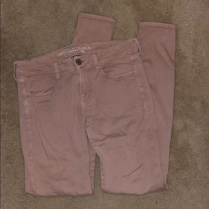American Eagle blush jeggings